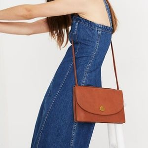 Madewell Slim Convertible Bag English Saddle